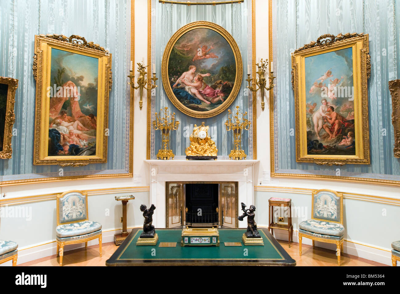 The Wallace Collection art gallery, London, England, UK - Stock Image