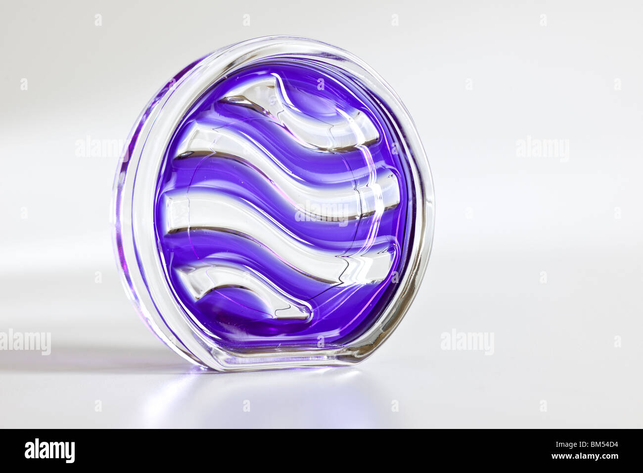 Glass unpacked Airwick crystal air - Stock Image
