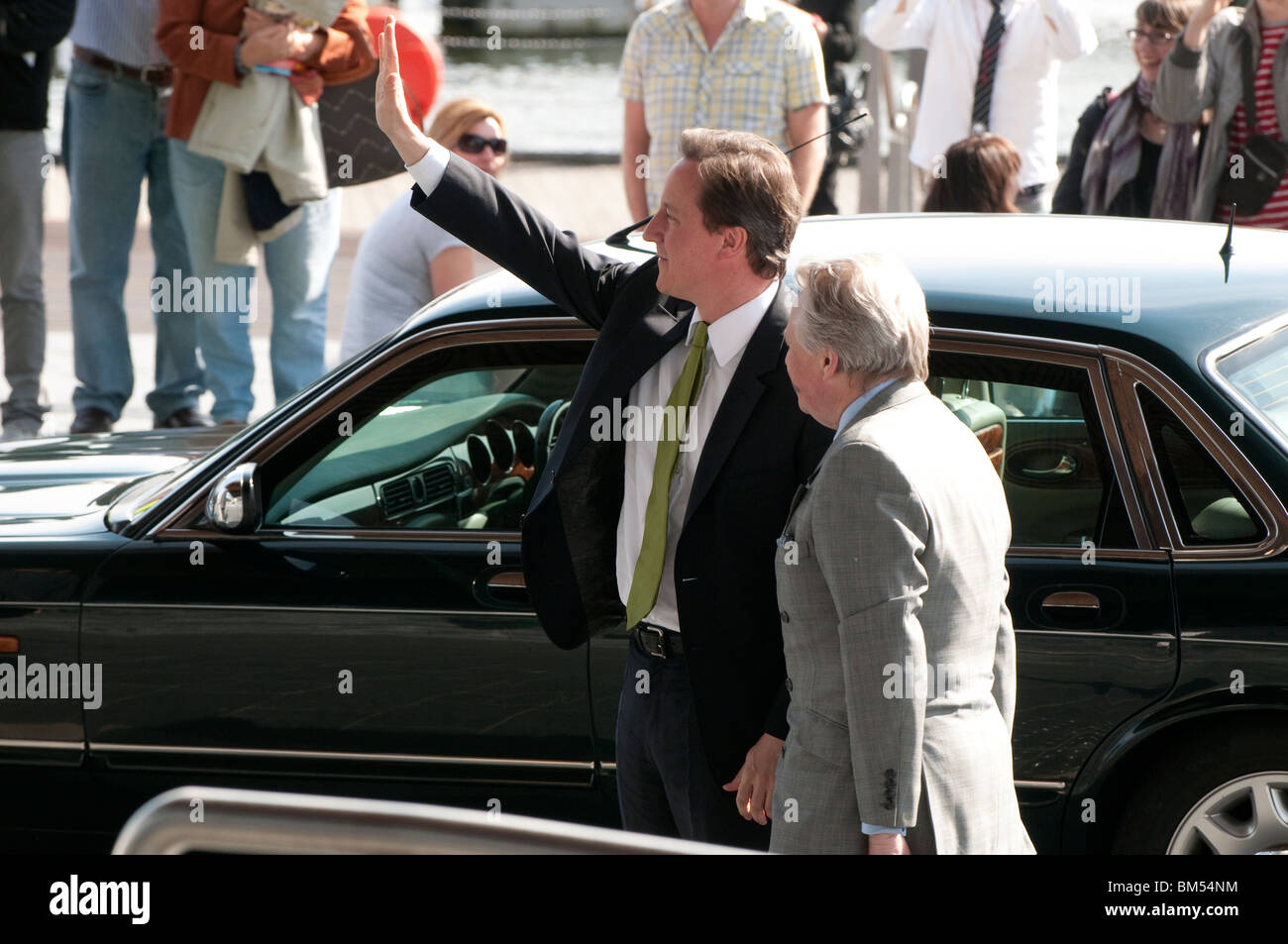 Prime Minister David Cameron visiting the Welsh Assembly, Cardiff, May 17th 2010 - Stock Image