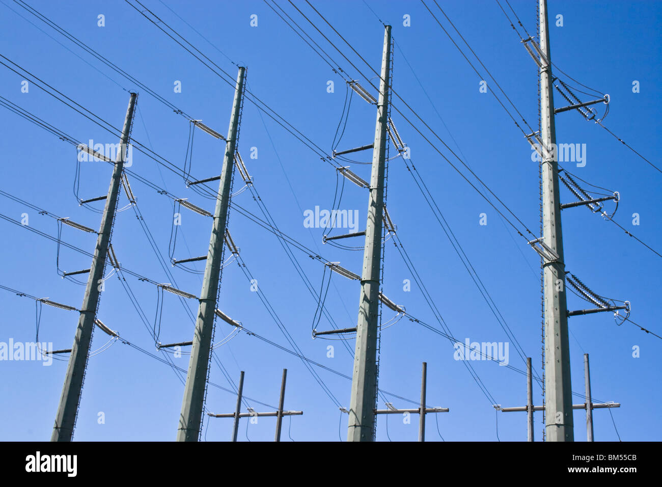 High Voltage Power lines - Stock Image