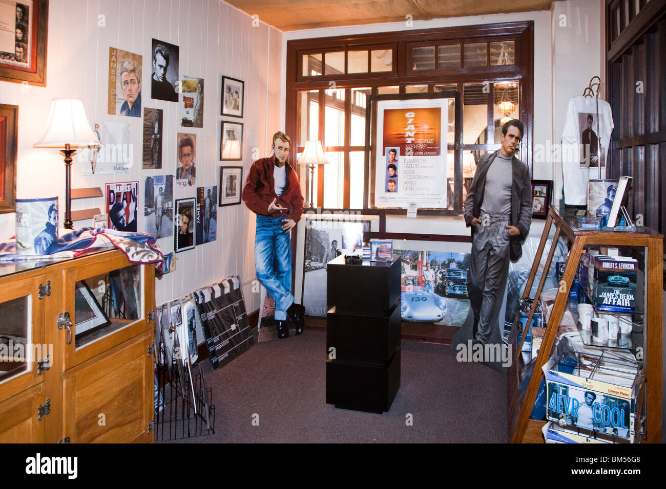 Room used for James Dean memorabilia in Hotel El Paisano where Giant was filmed Marfa Texas USA - Stock Image