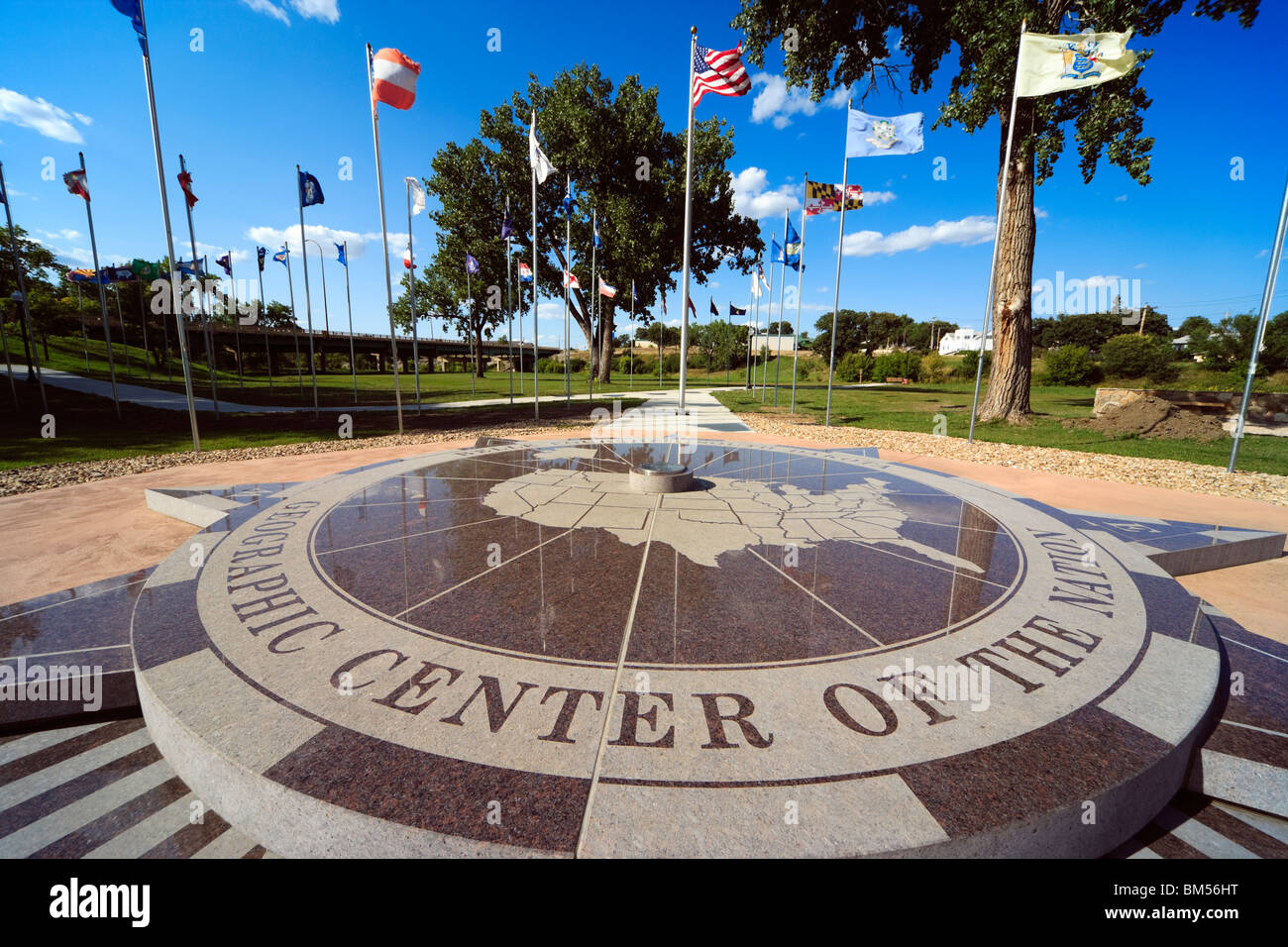Belle Fourche South Dakota SD geographic geographical center centre of the nation. United States of America U.S.A. - Stock Image