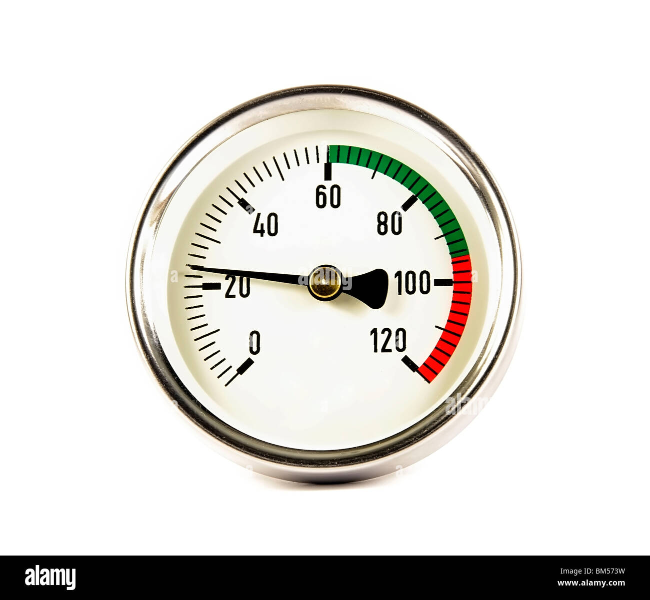 Measuring instrument of temperature - Stock Image