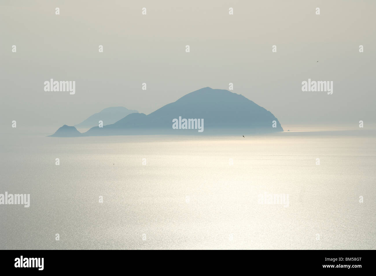 The islands of Alicudi and Filicudi in the Aeolian Islands Stock Photo