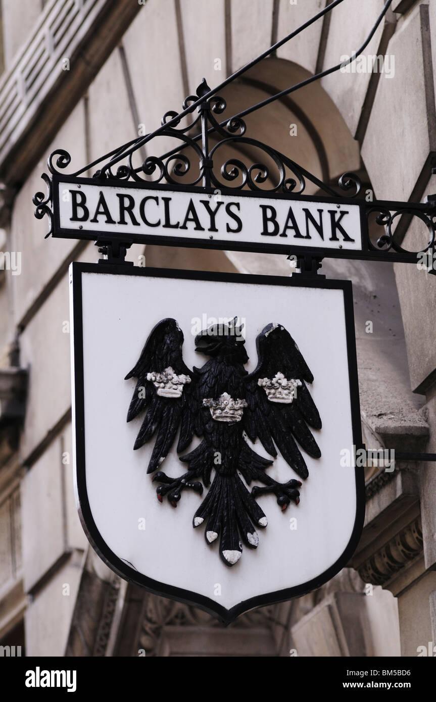 Barclays Bank Sign, Fleet Street, London England UK - Stock Image