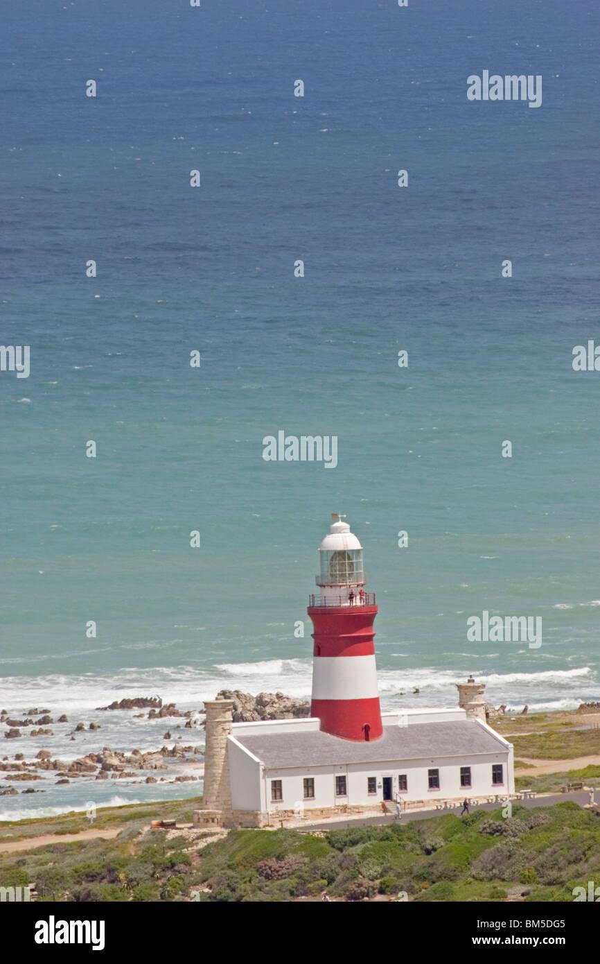 Lighthouse Cape Agulhas, South Africa Stock Photo