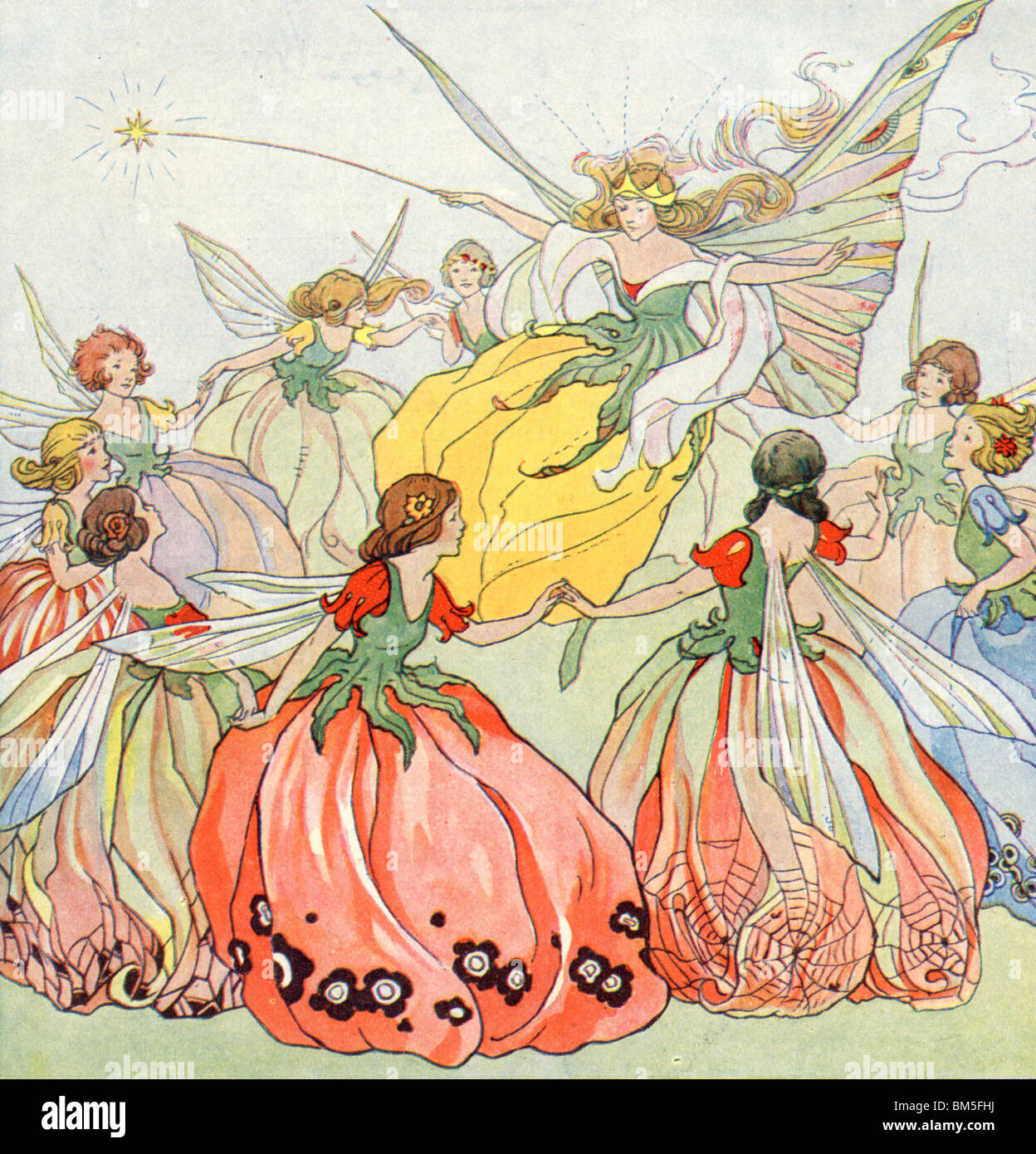 The Fairies in a flutter - Stock Image
