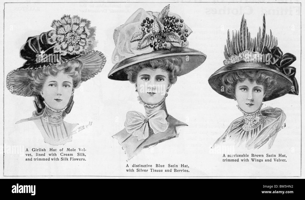 The New Hats, Vogue, early 1900's - Stock Image