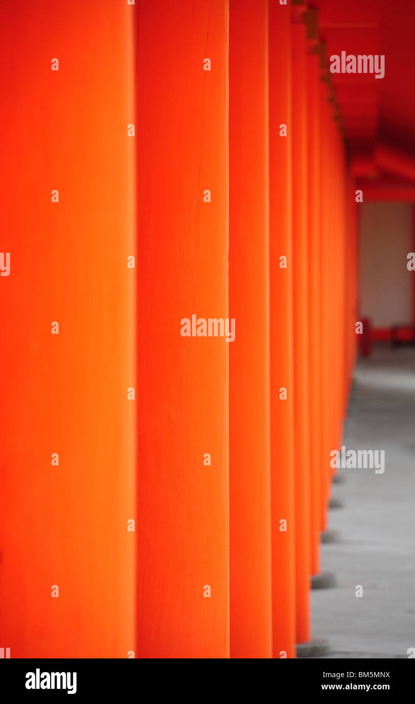Part of temple in Japan, Kyoto city - Stock Image