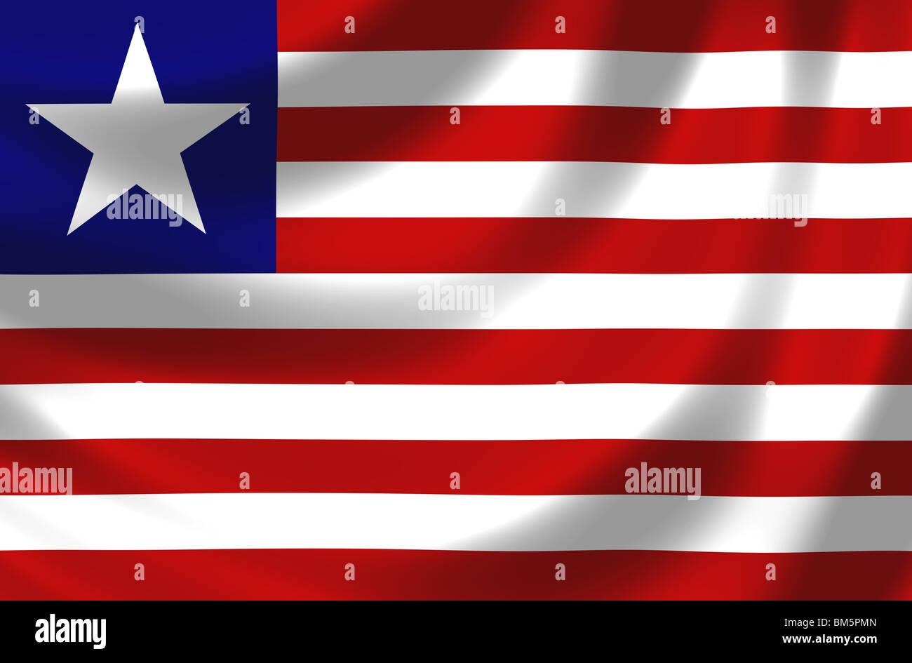 Flag of Liberia - Stock Image