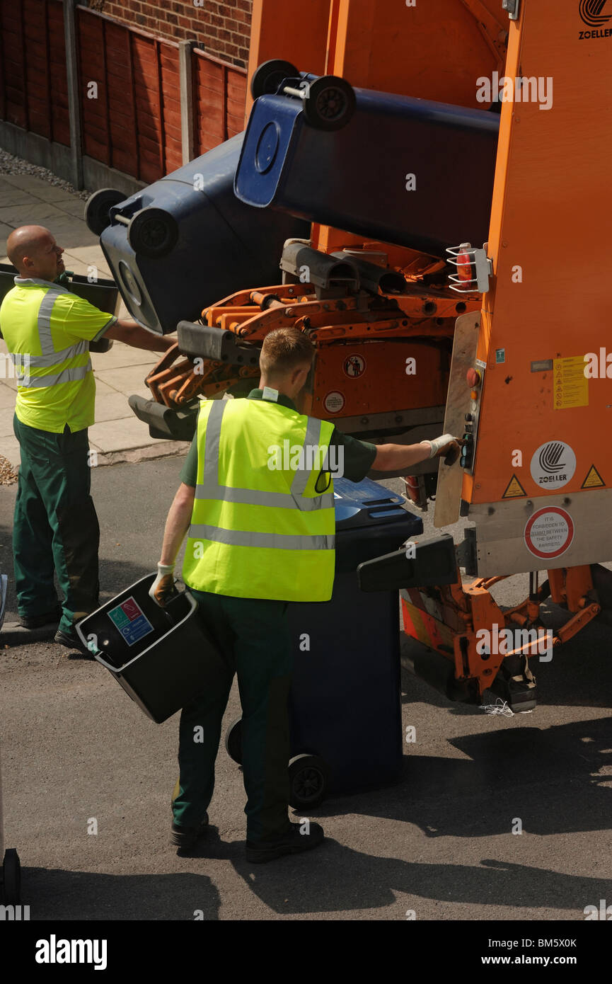 Bin collection - Stock Image
