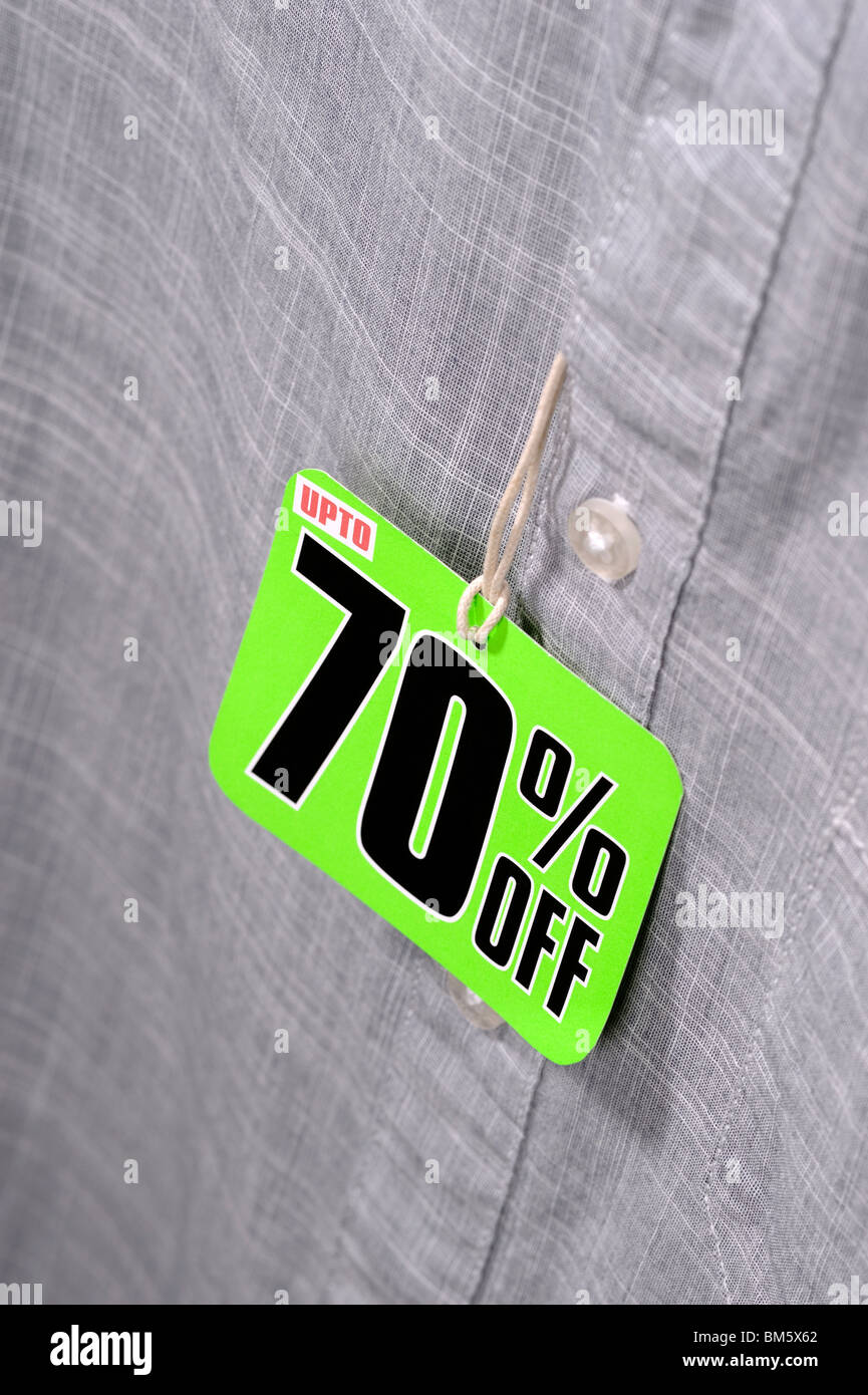 70% Off discount - Stock Image
