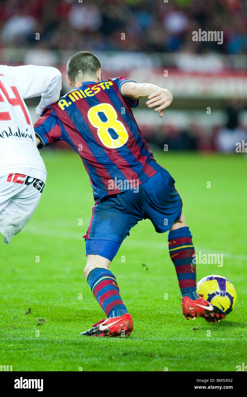 Iniesta with the ball. - Stock Image