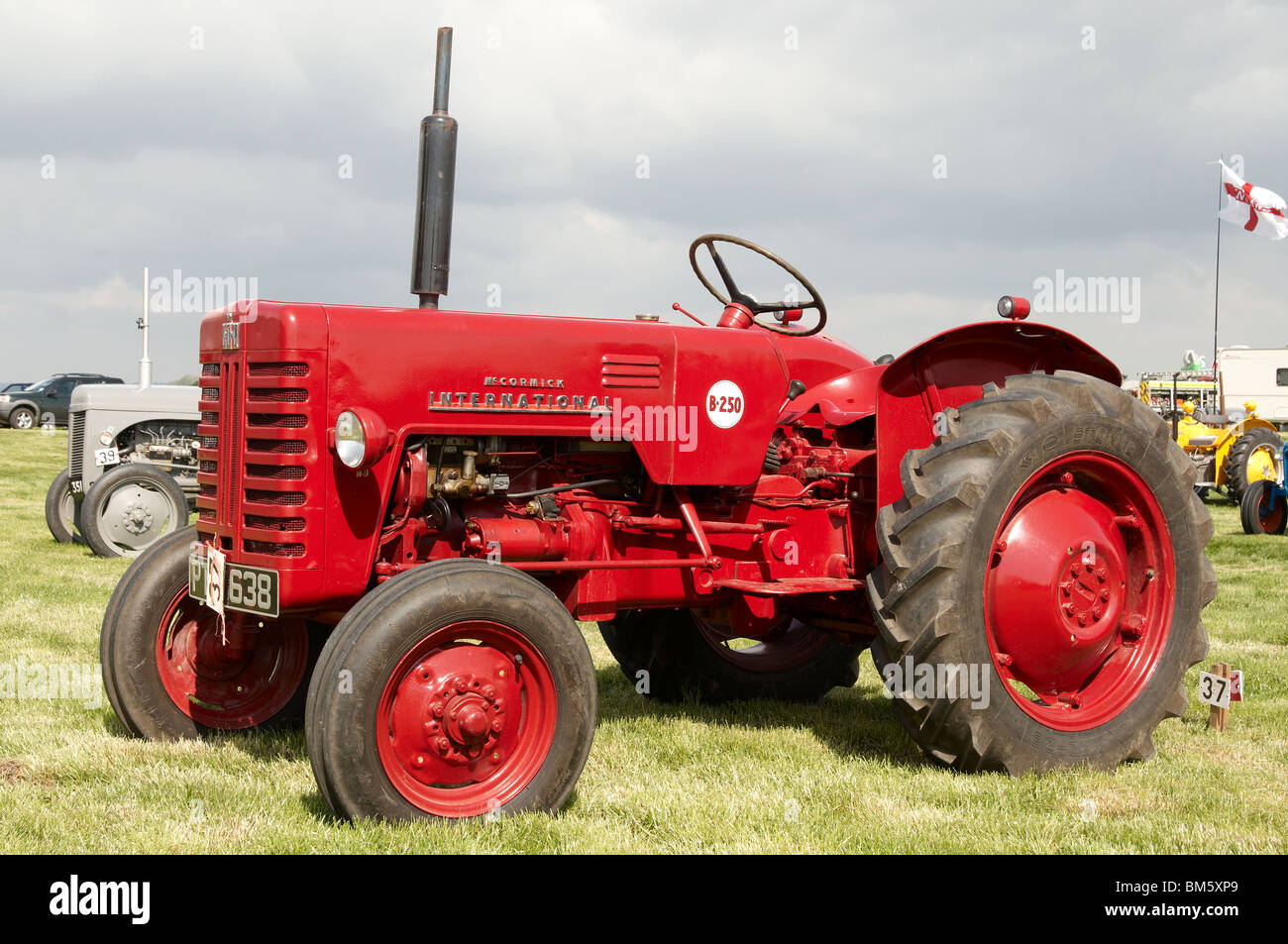 Classic agricultural tractors displayed at the Bill Targett Memorial Rally  held at Matterley Farm, Winchester