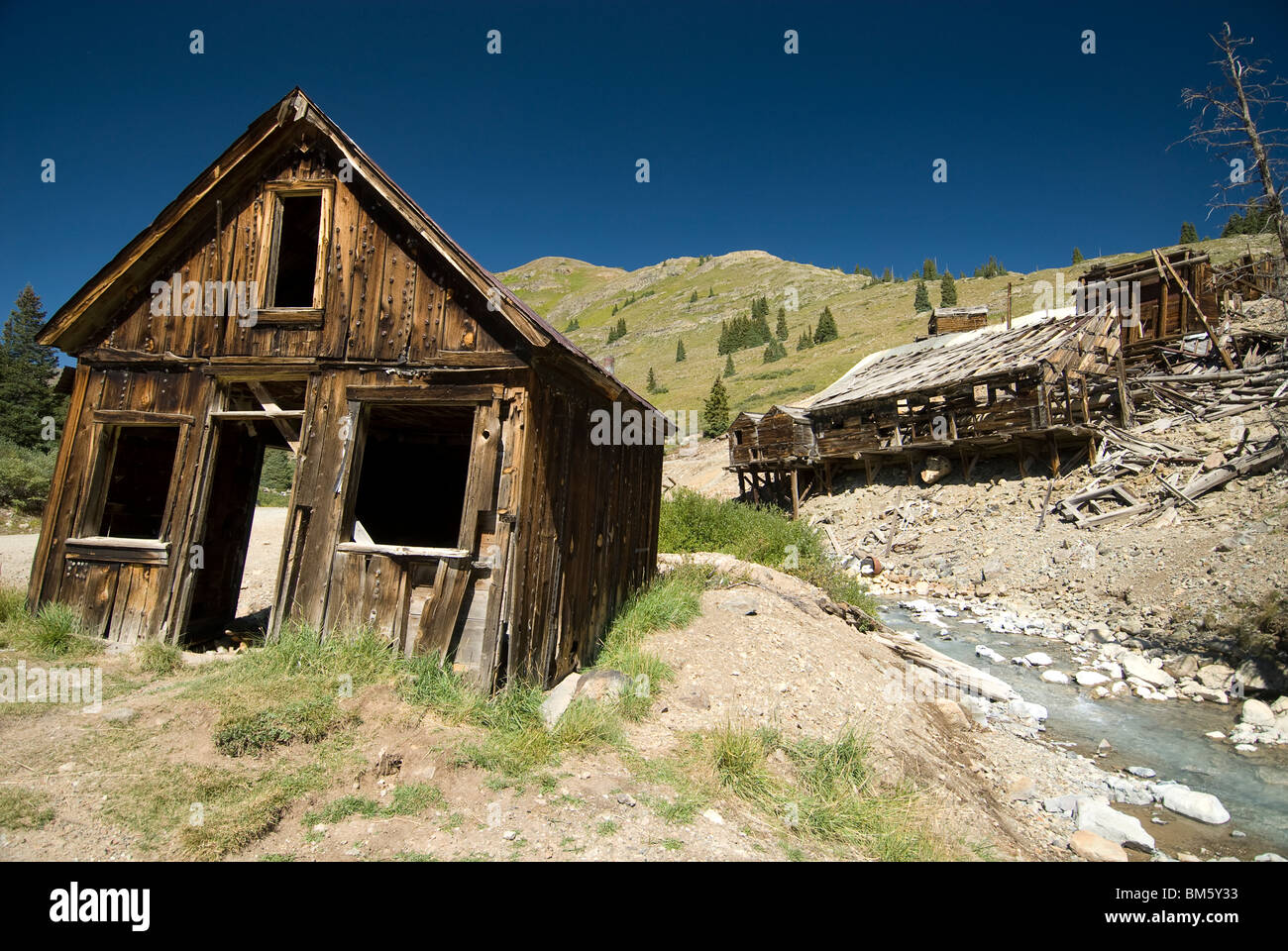 Animas Forks Ghost Town near Silverton, Colorado USA - Stock Image