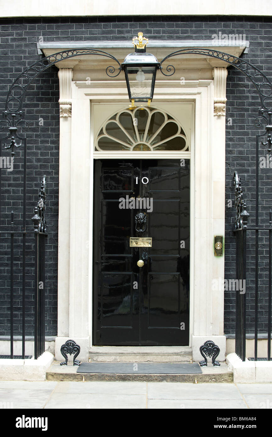 10 Downing Street, Westminster, London. The official residence of the British Prime Minister. - Stock Image