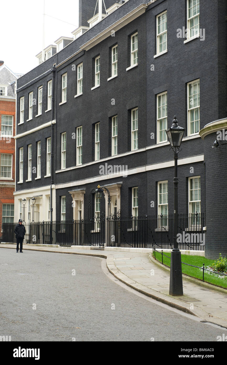 Downing Street the official residence of the UK Prime Minister - Stock Image