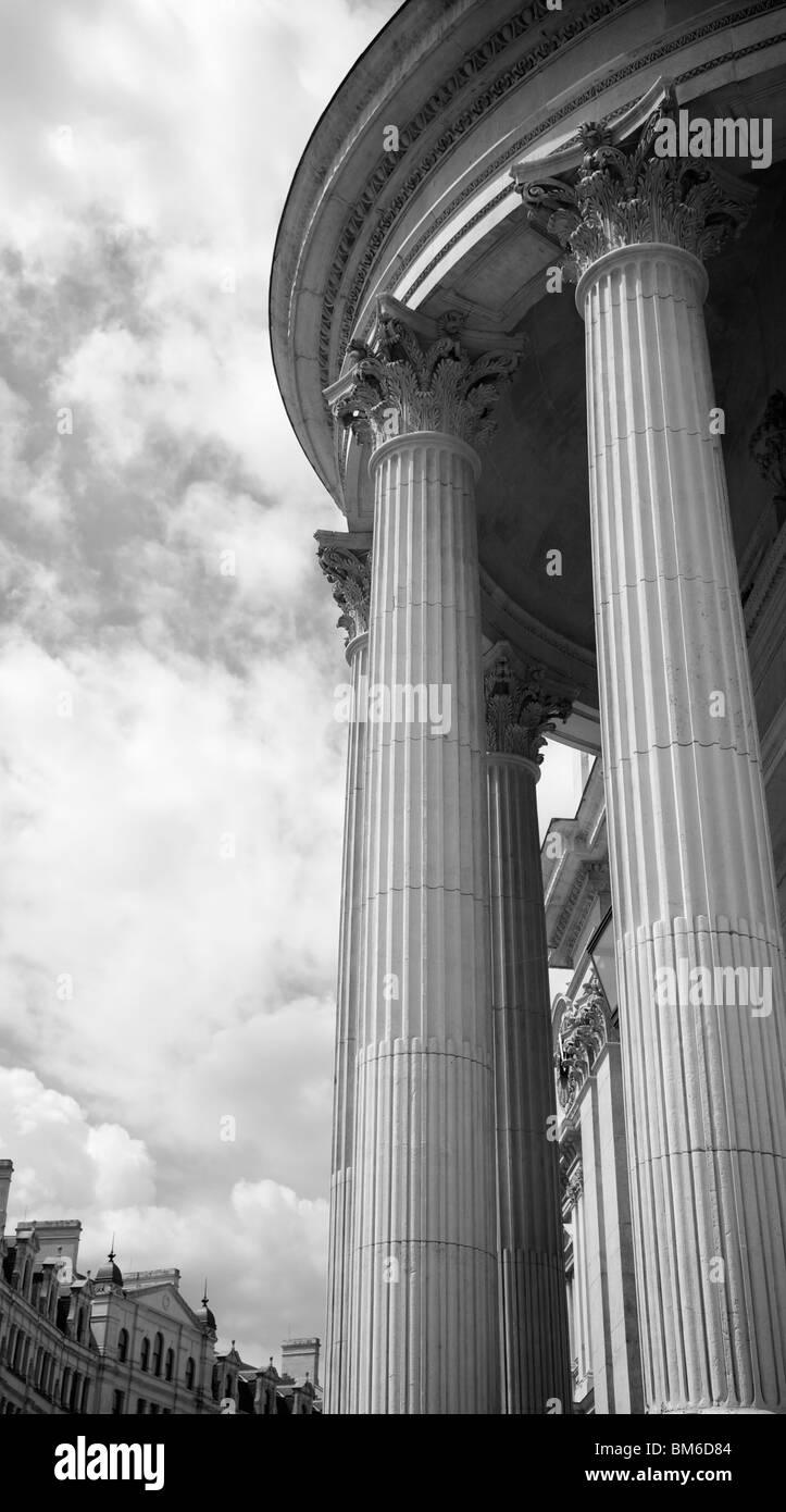 A contemporary detail of St. Paul's Cathedral, London - Stock Image