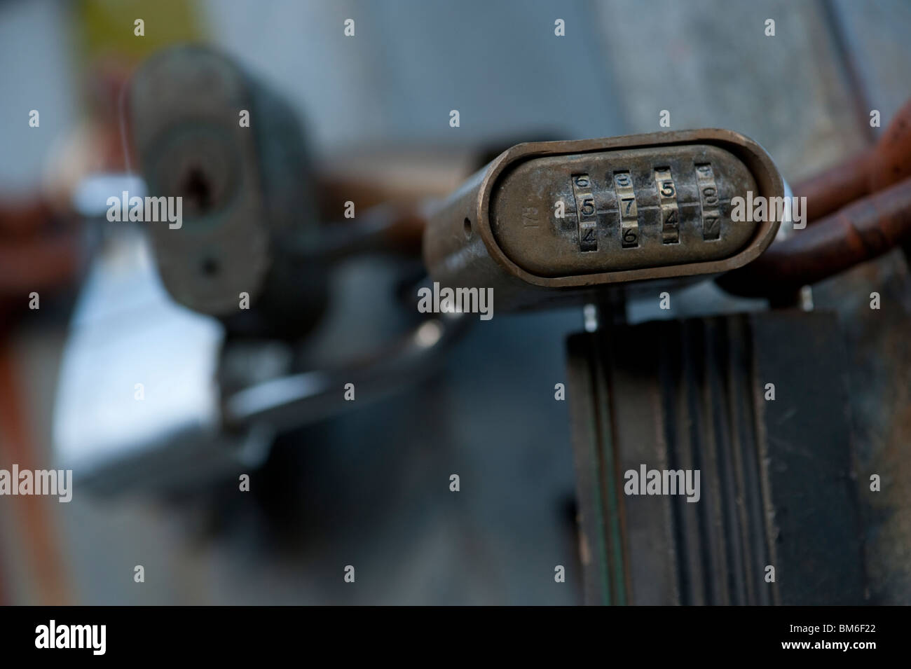 Combination lock Padlocks - Stock Image