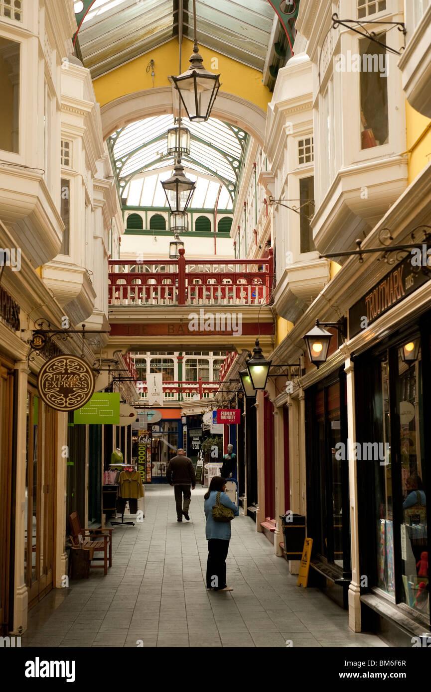 Castle arcade, Cardiff city, Wales UK - Stock Image