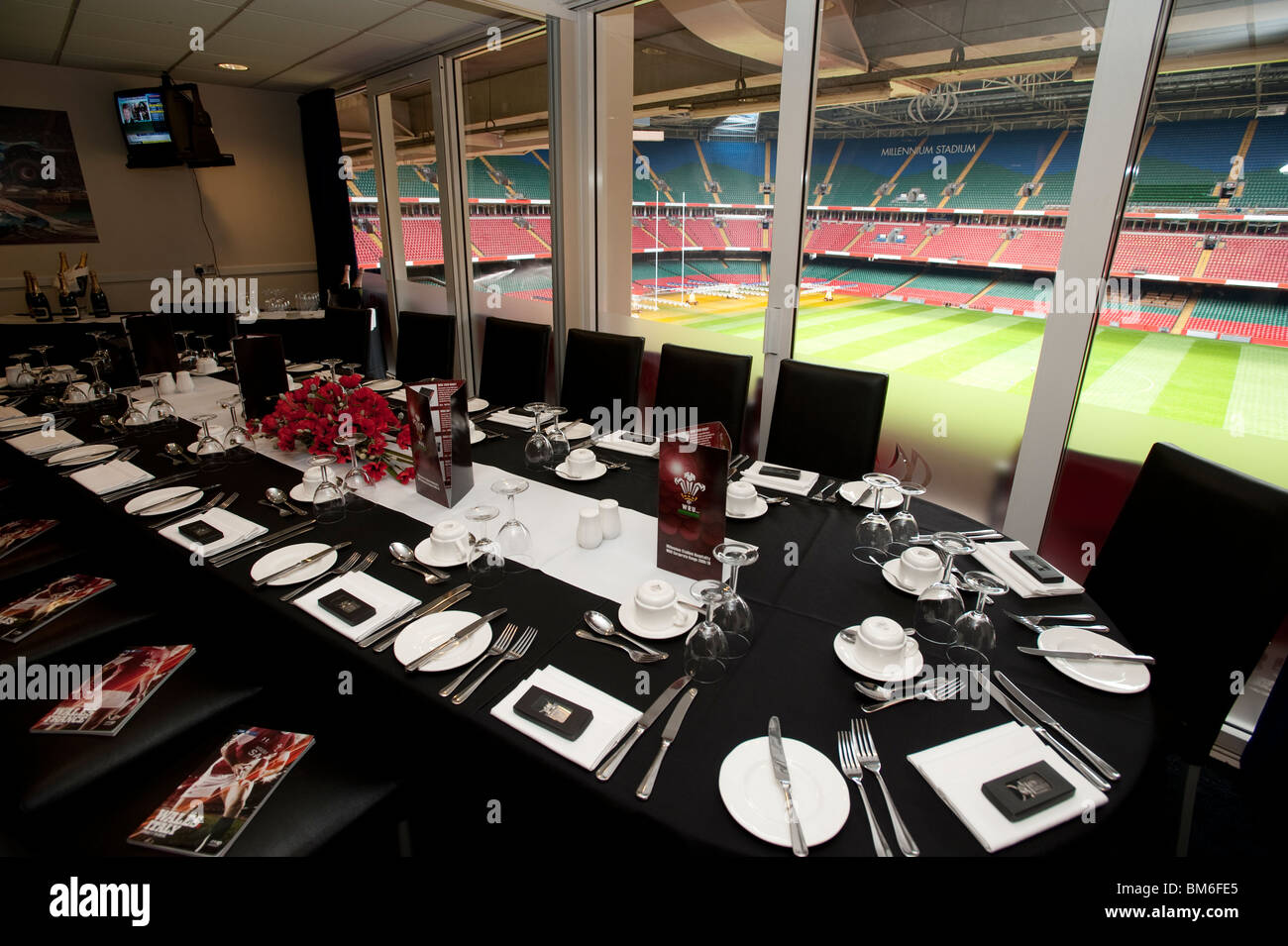 Hospitality Suite Millennium Stadium Cardiff Stock Photos