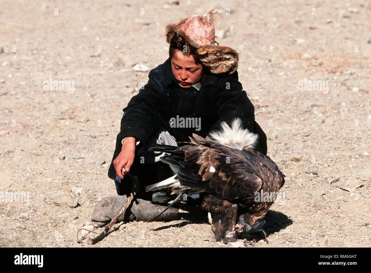 Golden Eagle Festival, Bayan Ölgii, Altai Mountains, Mongolia Stock Photo