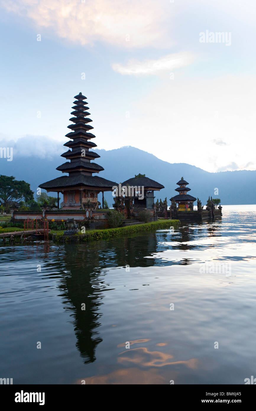 Pura Ulun Danu Bratan, Hindu-Buddhist temple in Candykuning, Bali, Indonesia - Stock Image