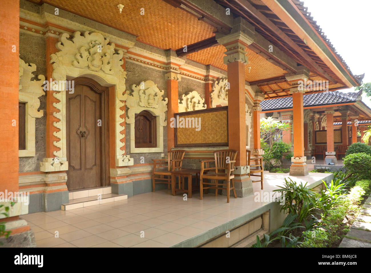 Traditional guesthouse at Bali, Indonesia - Stock Image