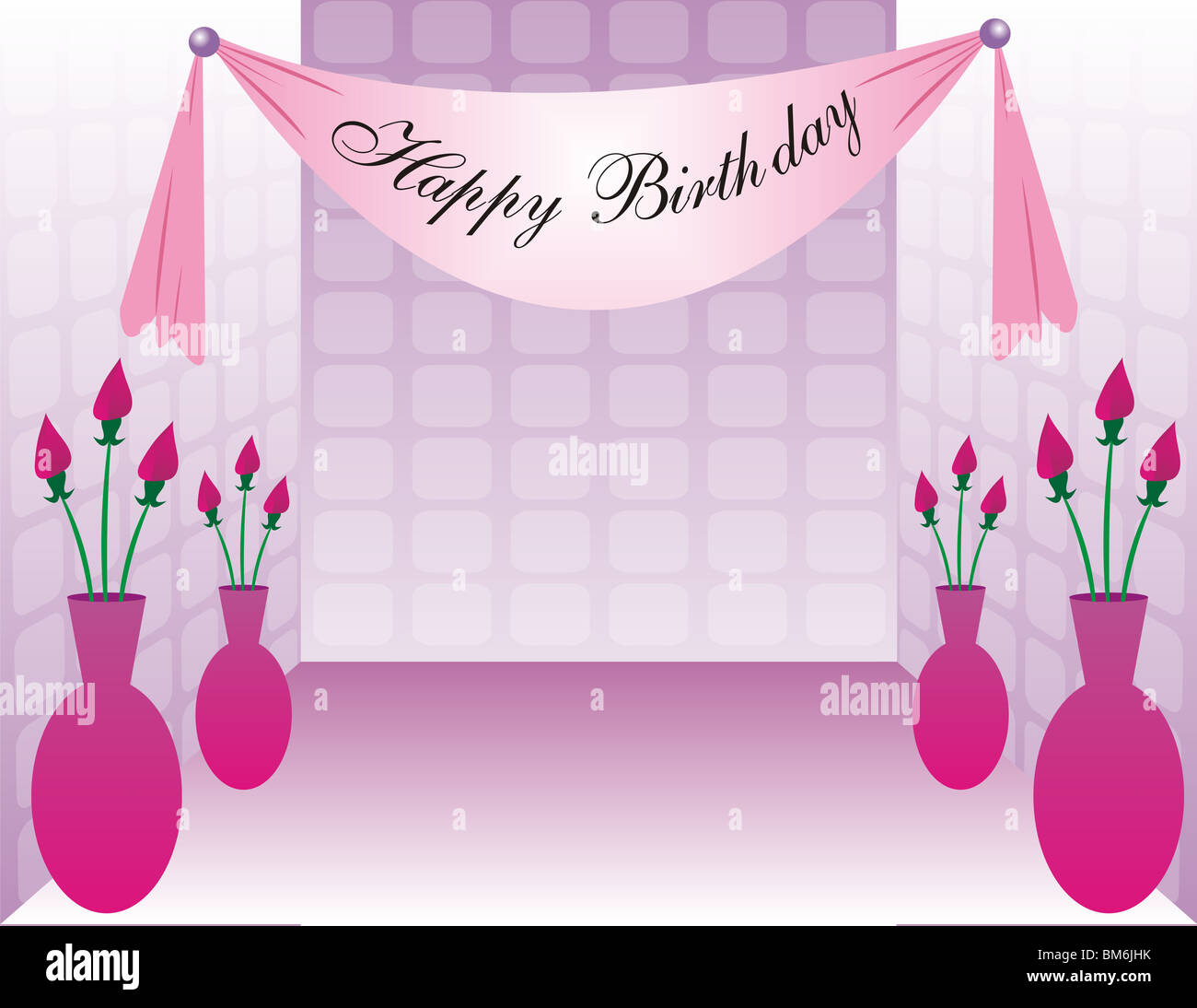Sweet Sixteen Celebration background with a Happy Birthday