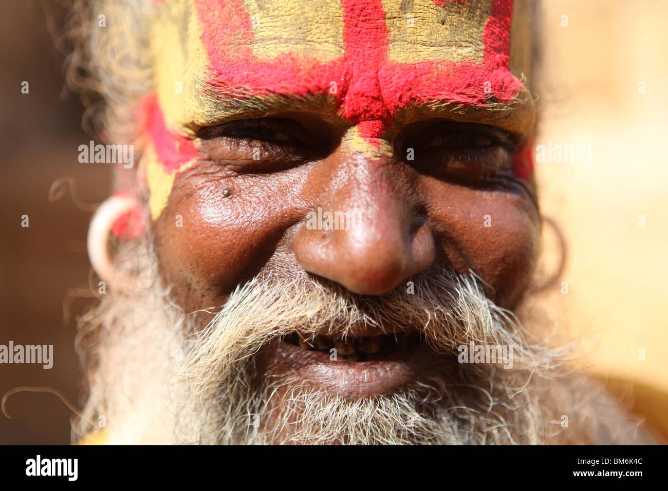 A Sadhu, Hindi Holy Man at the Fort in Jaisalmer, Rajashan, India. - Stock Image
