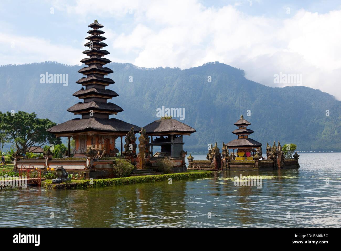 Pura Ulun Danu Bratan, Hindu-Buddhist temple in Candykuning, Bali, Indonesia Stock Photo