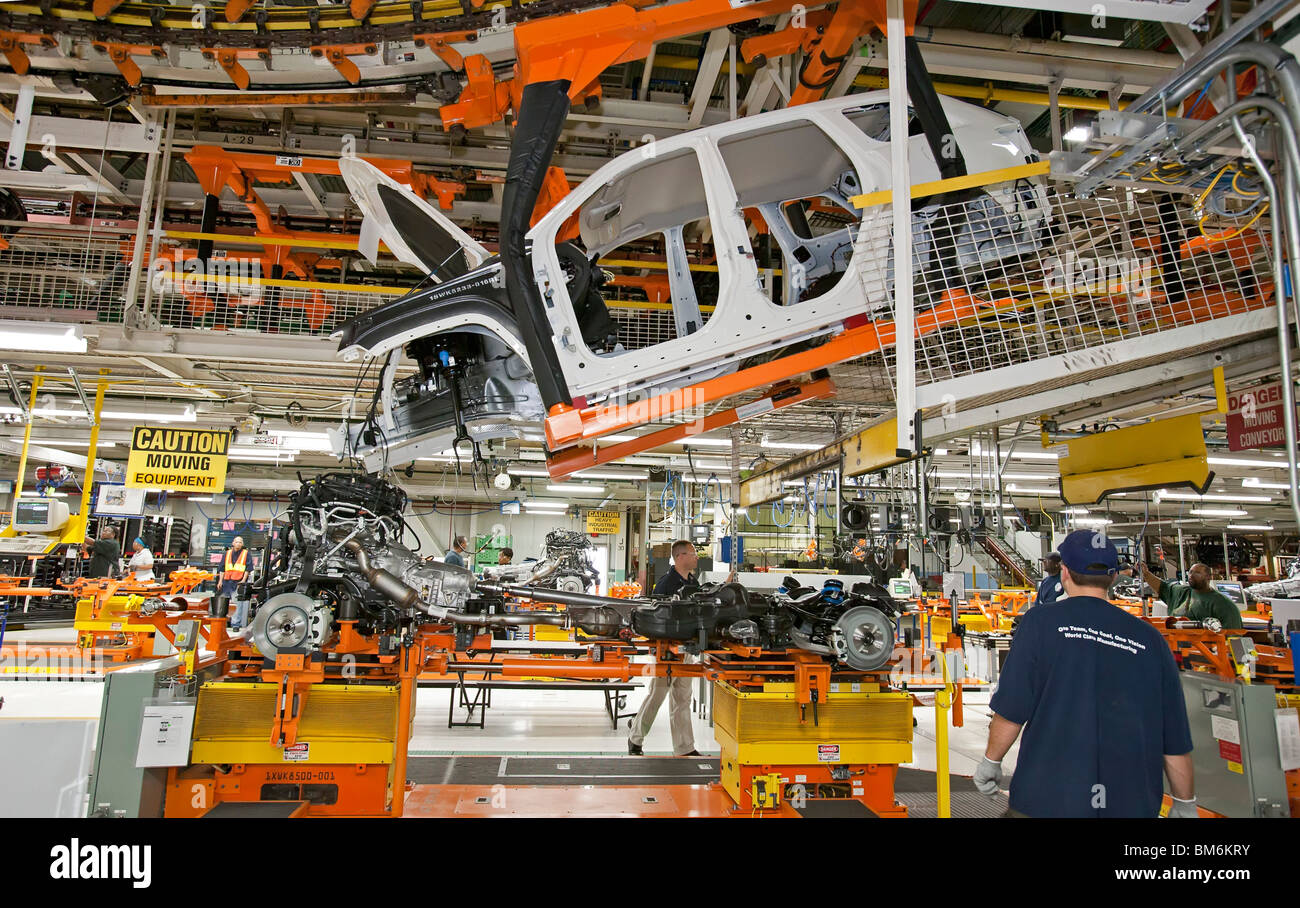 Chrysler's Jeep Grand Cherokee is Manufactured at Jefferson North Assembly Plant - Stock Image