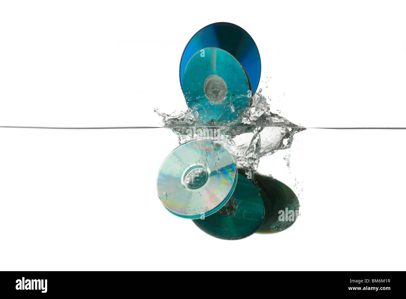 old CDs thrown away - Stock Image
