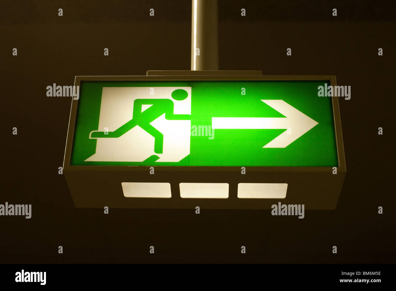 Exit / escape sign - Stock Image