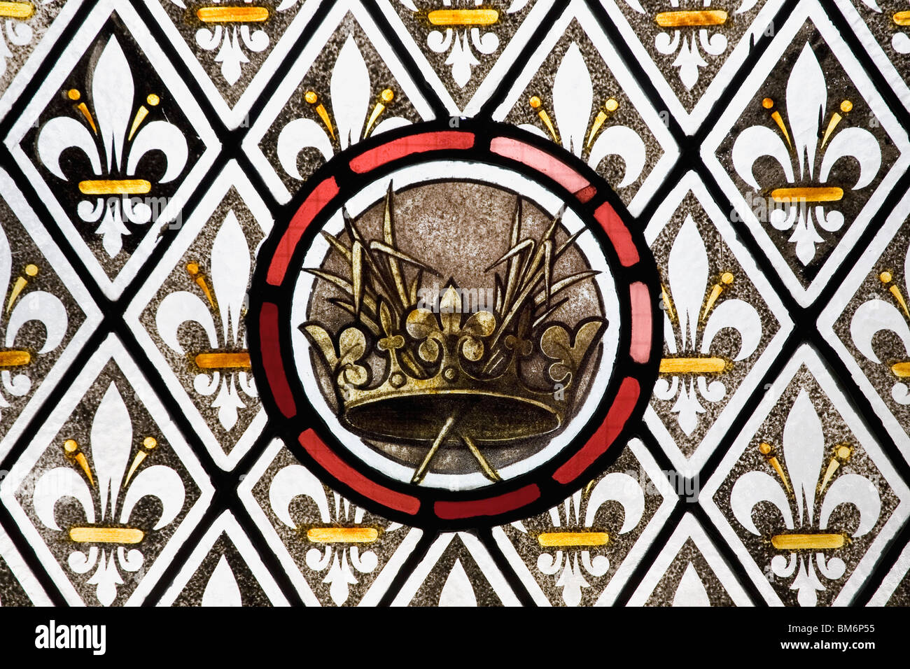 Stained Glass Window Detail - Stock Image