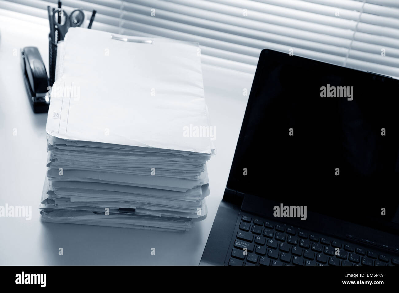 Office and File Stack for background - Stock Image