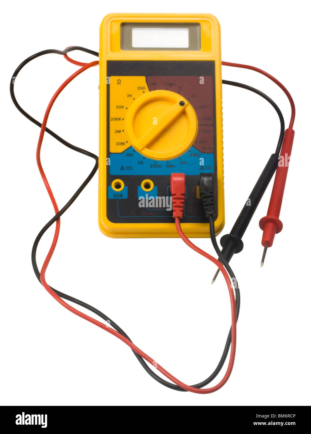 Close-up of a digital multimeter - Stock Image