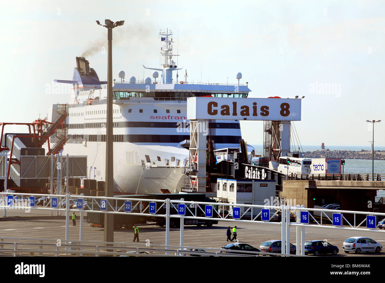 Car Ferry Terminal at Calais France - Stock Image
