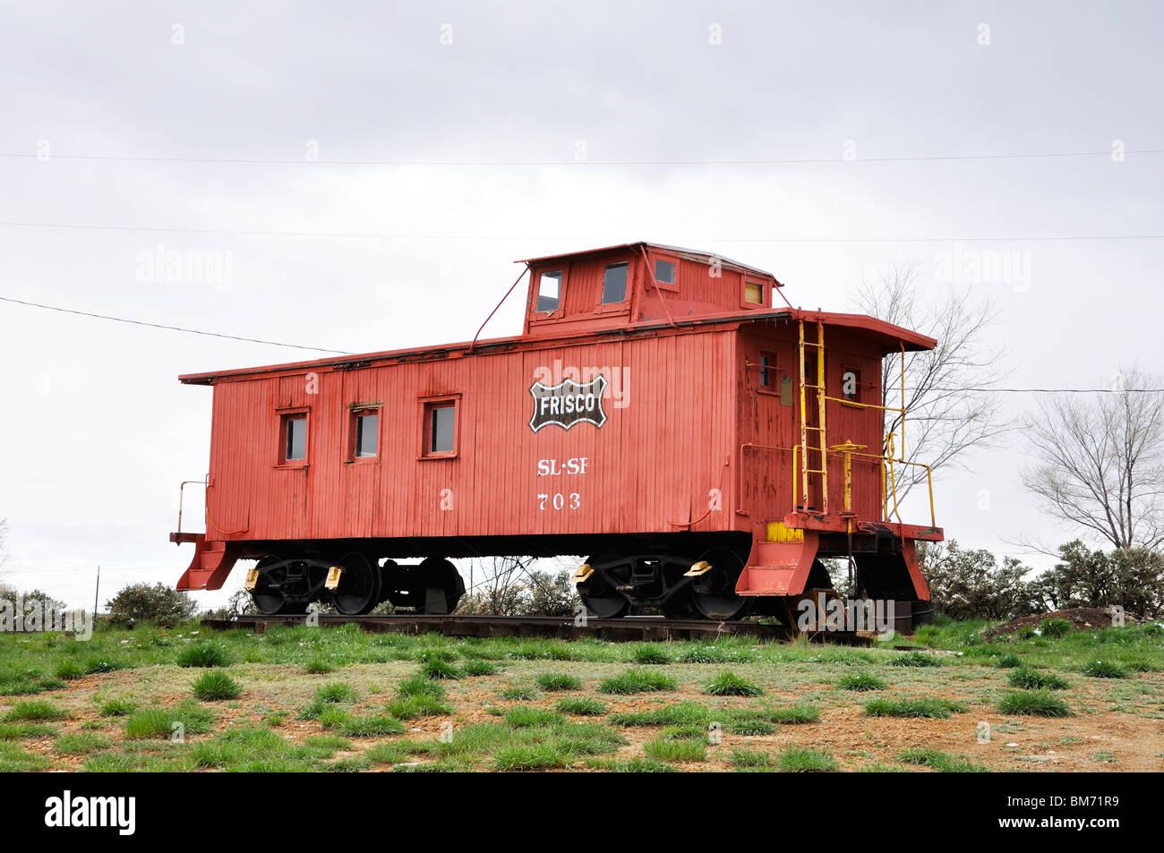 Frisco caboose, Taos, New Mexico, USA Stock Photo: 29658589