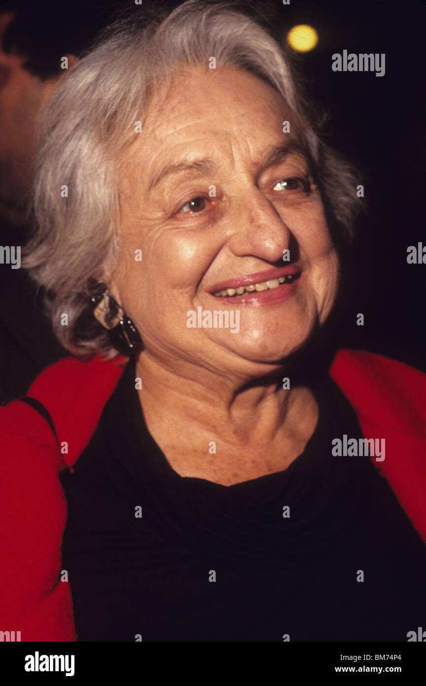 Writer Betty Friedan, (1921 - 2006) author of The Feminine Mystique - Stock Image