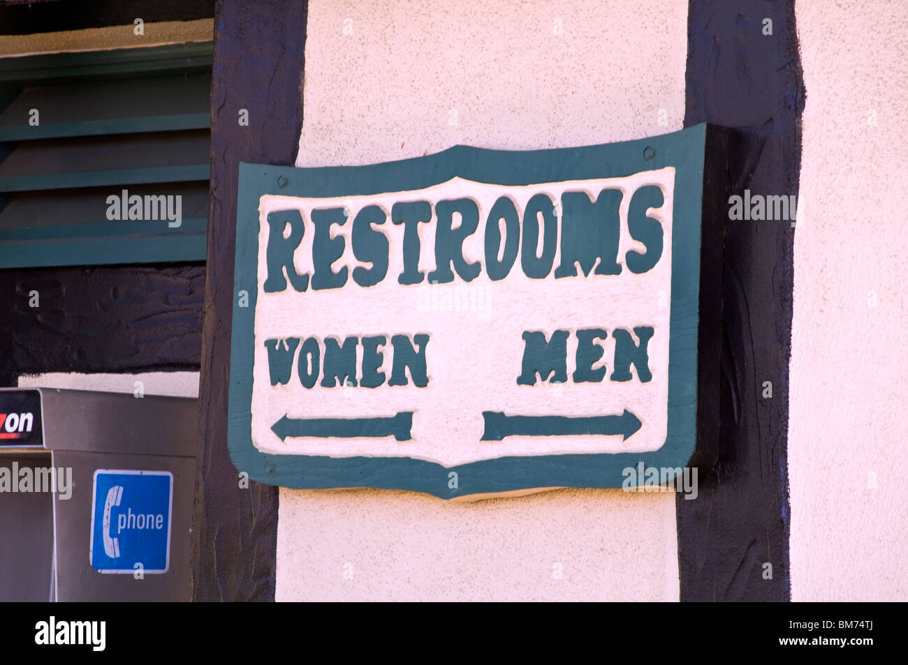 Sign Restrooms - Stock Image