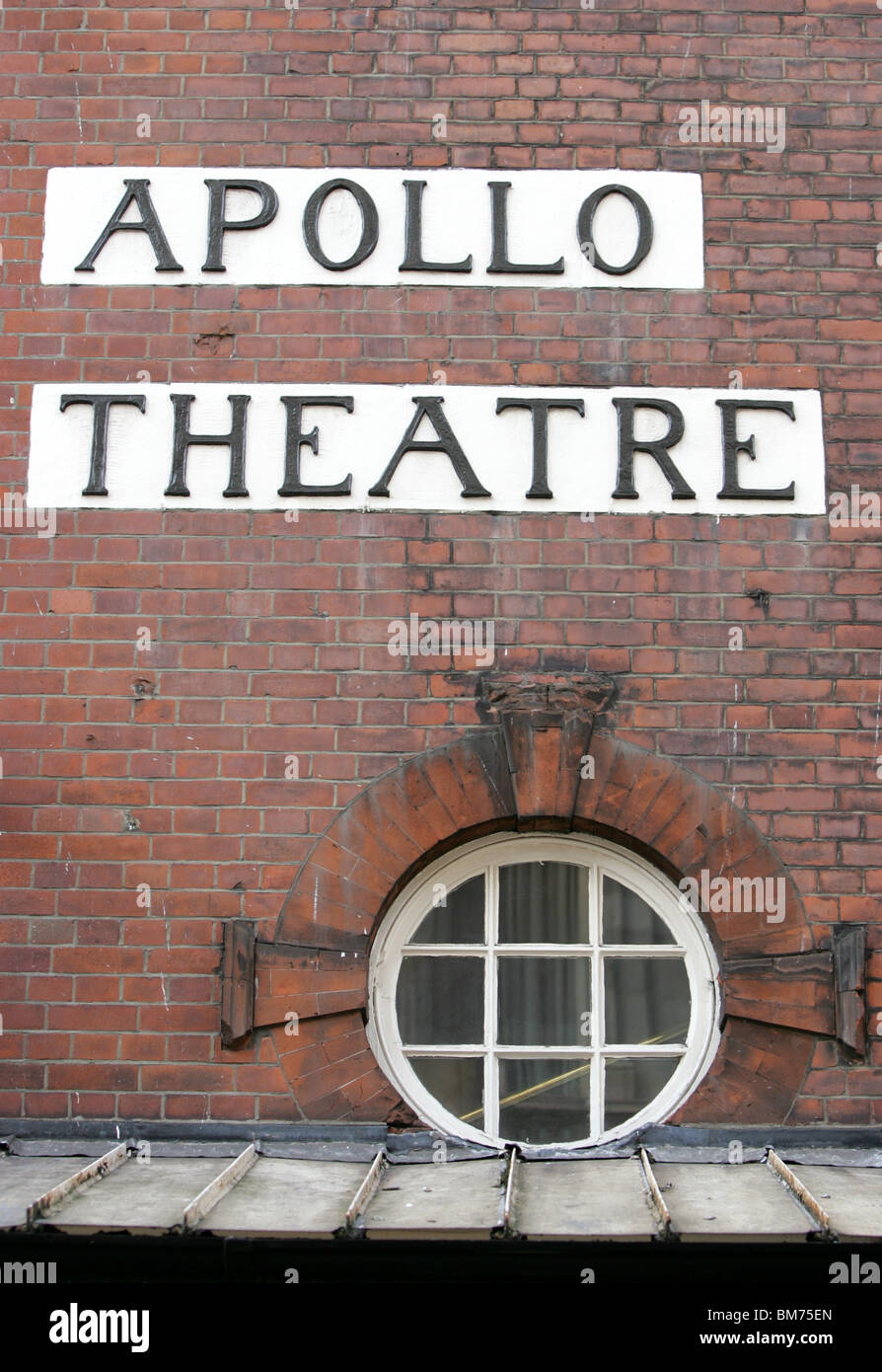 The Apollo Theatre, London, detail - Stock Image