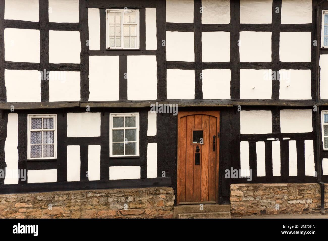 UK Pershore Wood Framed House - Stock Image