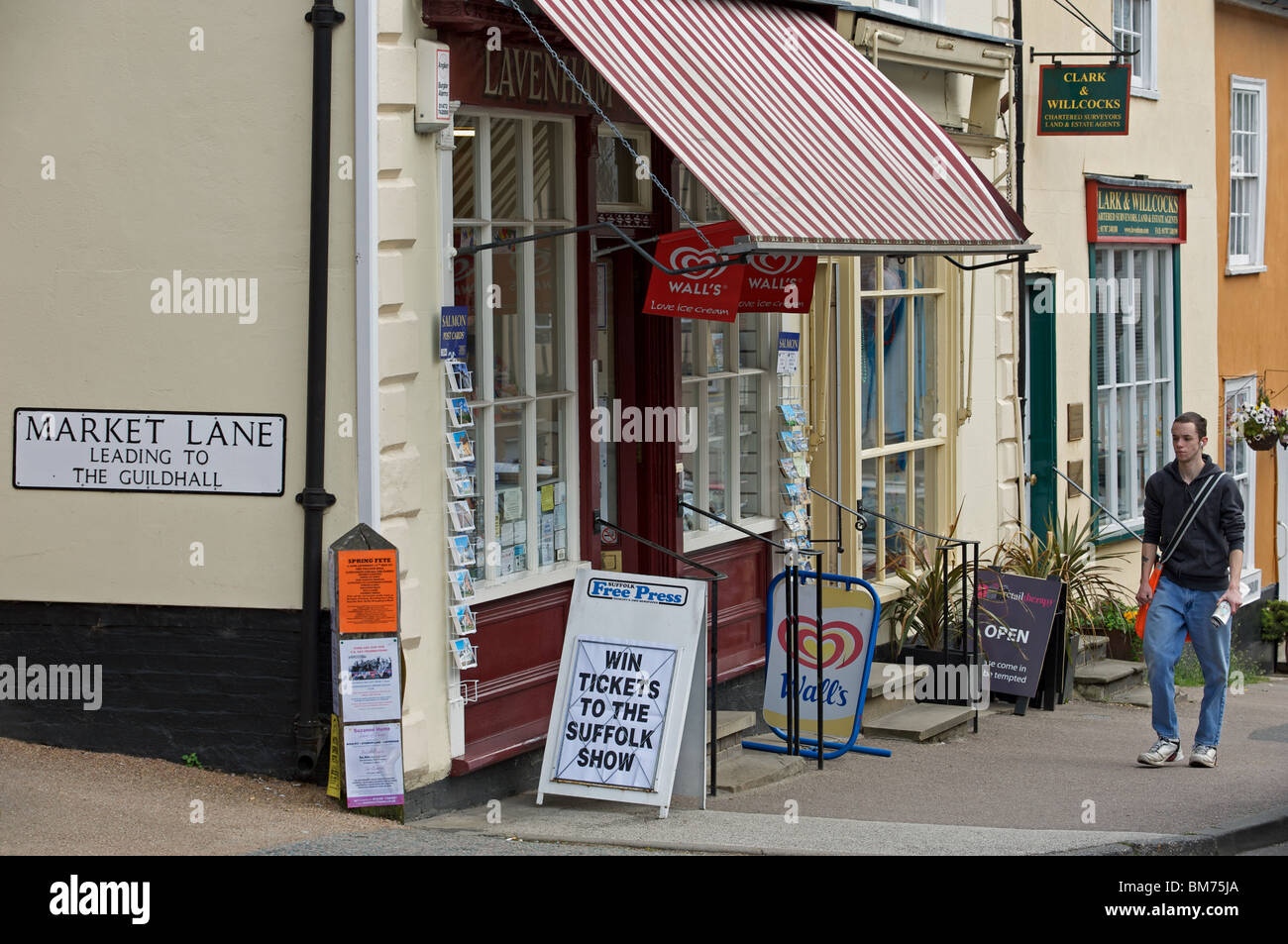 Local village shop, Lavenham, Suffolk, UK. - Stock Image
