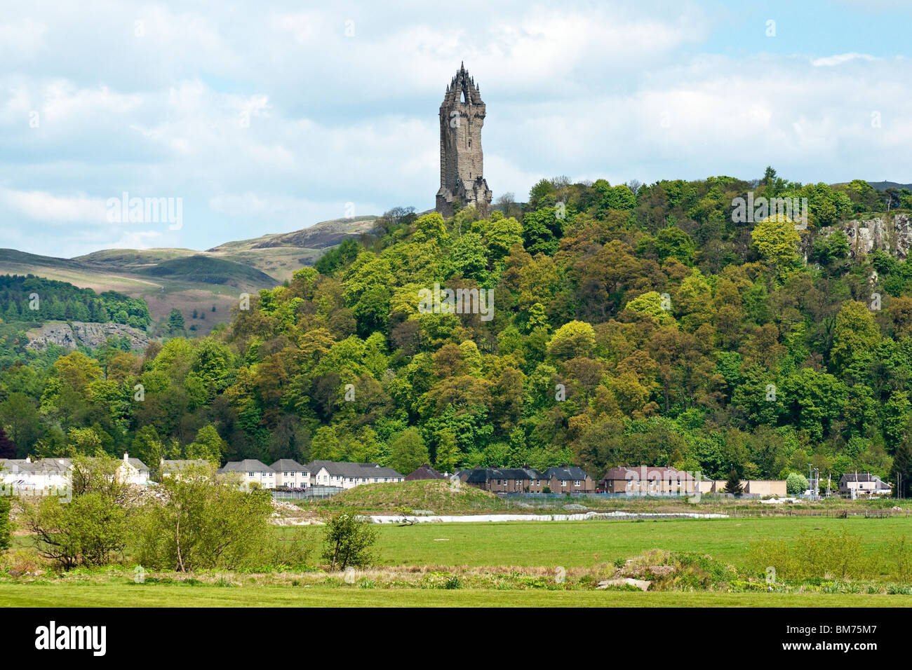 The National Wallace Monument on Abbey Craig north of Stirling in Scotland Stock Photo