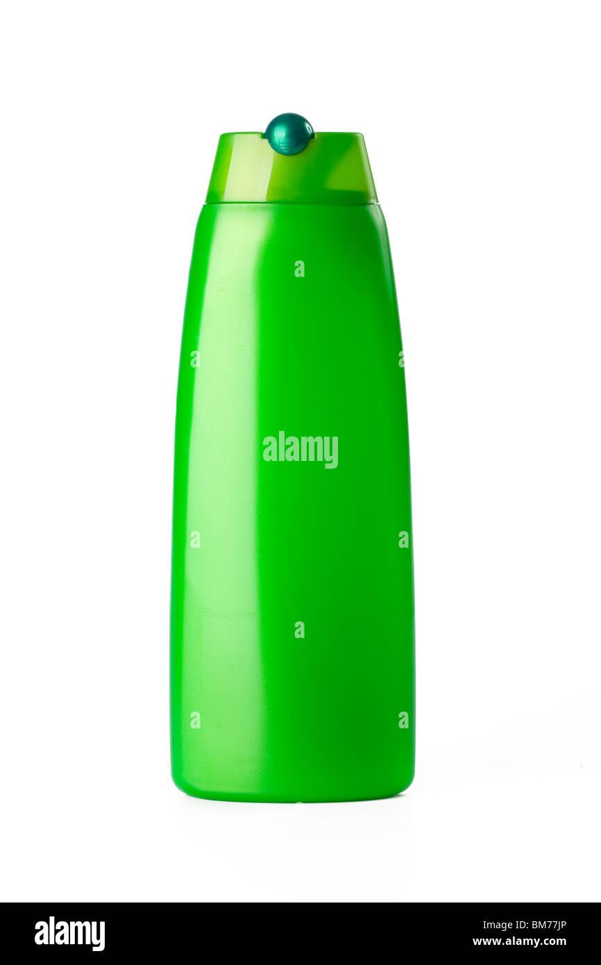 plastic bottle on white background - Stock Image
