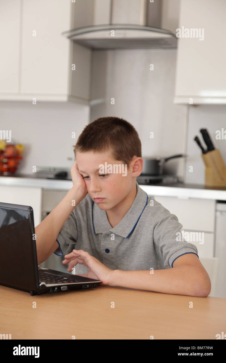 child bored computer stock photos child bored computer stock