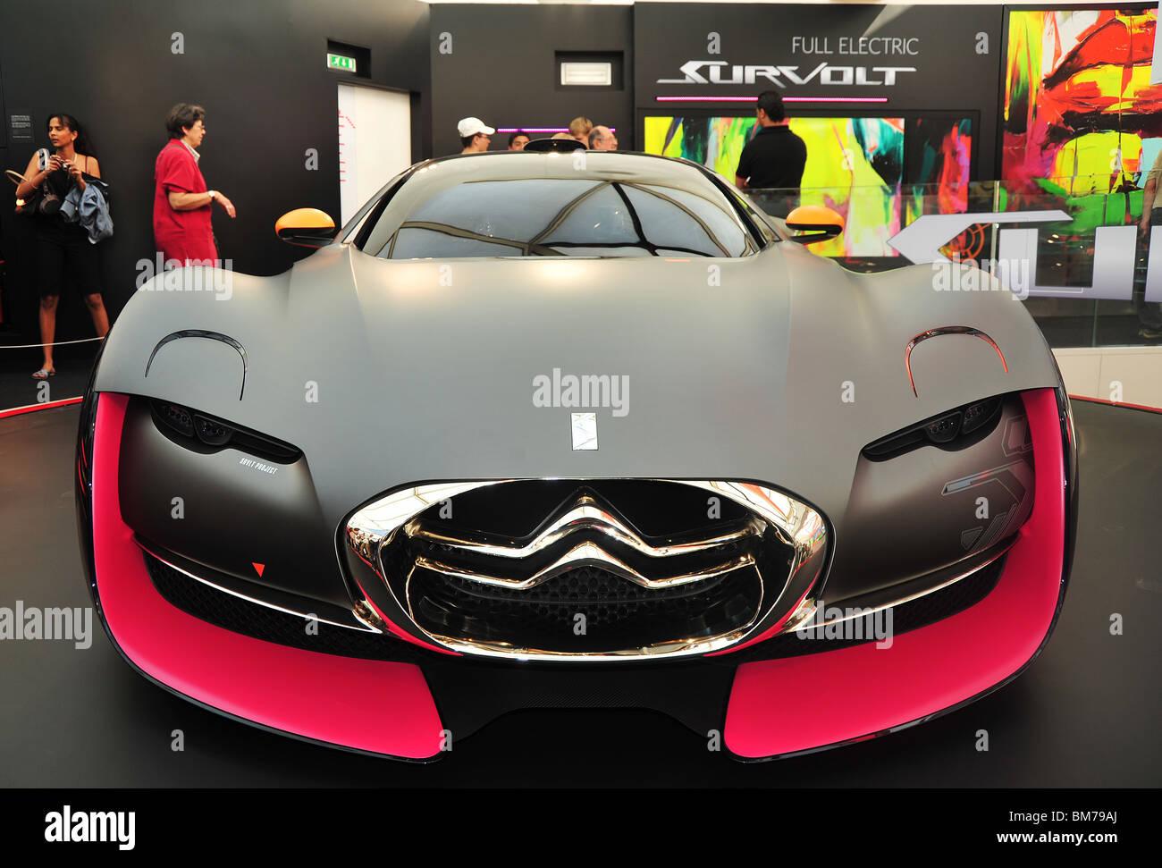Citroen Survolt , concept car all electric at Citroen showroom in ...