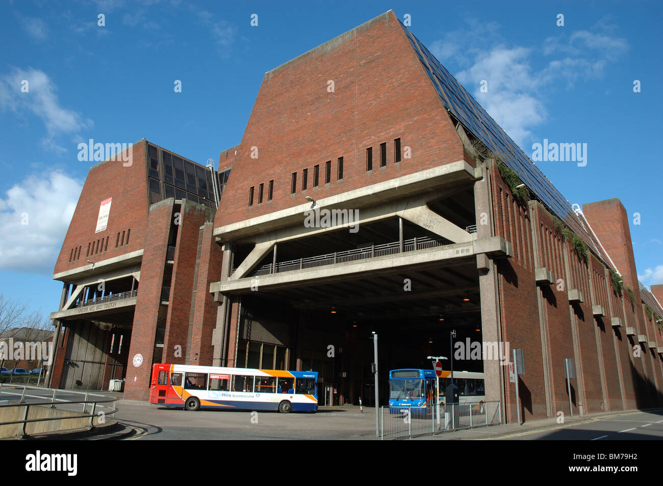 Northampton Greyfriars bus station, Northampton, England, UK - Stock Image