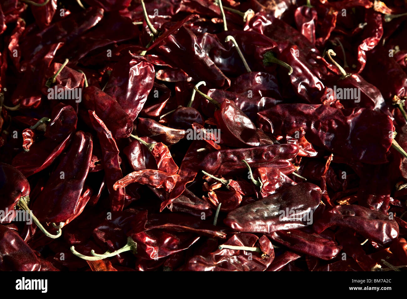 Chillies for sale in the old town in Ahmedabad, Gujurat India - Stock Image